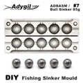 Adygil DIY рыболовный шар грузило прессформы ADBASM/#7 шариковый грузило 85 г 6 полостей