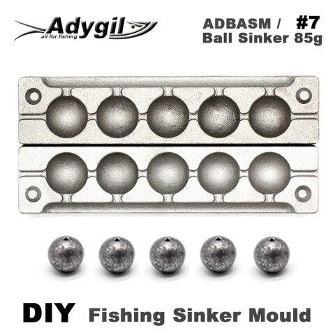 adygil diy bola de pesca chumbada molde adbasm 7 chumbada bola 85g 6