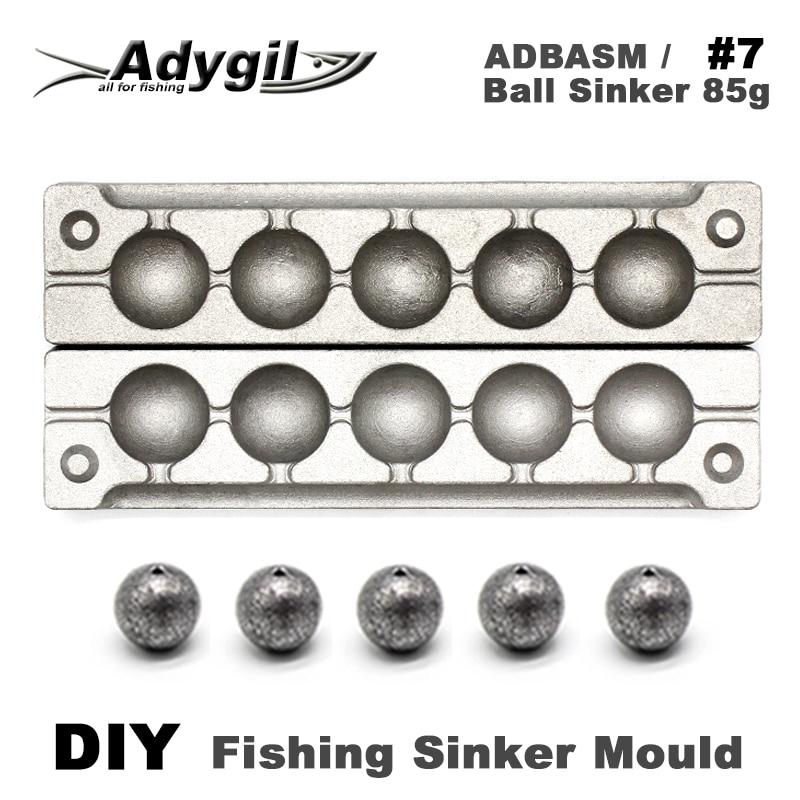 Рыболовный шарик adyil DIY, грузило, форма ADBASM/#7, грузило 85 г, 6 полостей|Рыболовные снасти|   | АлиЭкспресс