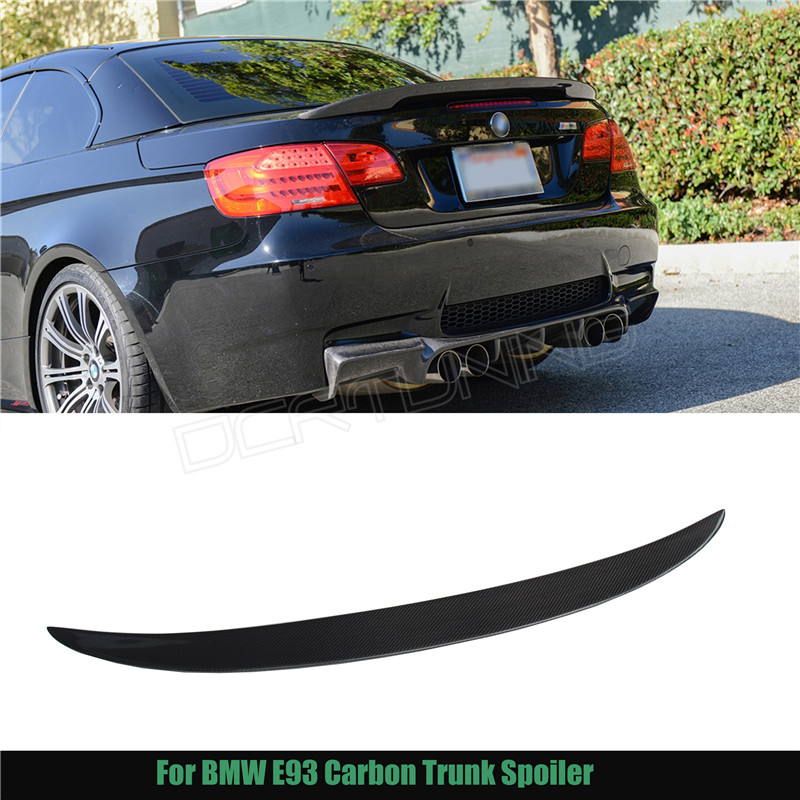 Performance For BMW 3 Series E93 325i 328i 330i 335i 2-Door Convertible E93 M3 P Style Carbon Fiber Rear Trunk Spoiler 2007-2013 2005 2011 e92 performance style carbon fiber rear lip spoiler for bmw 3 series e92 coupe and e92 m3 316i 318i 320i 323i