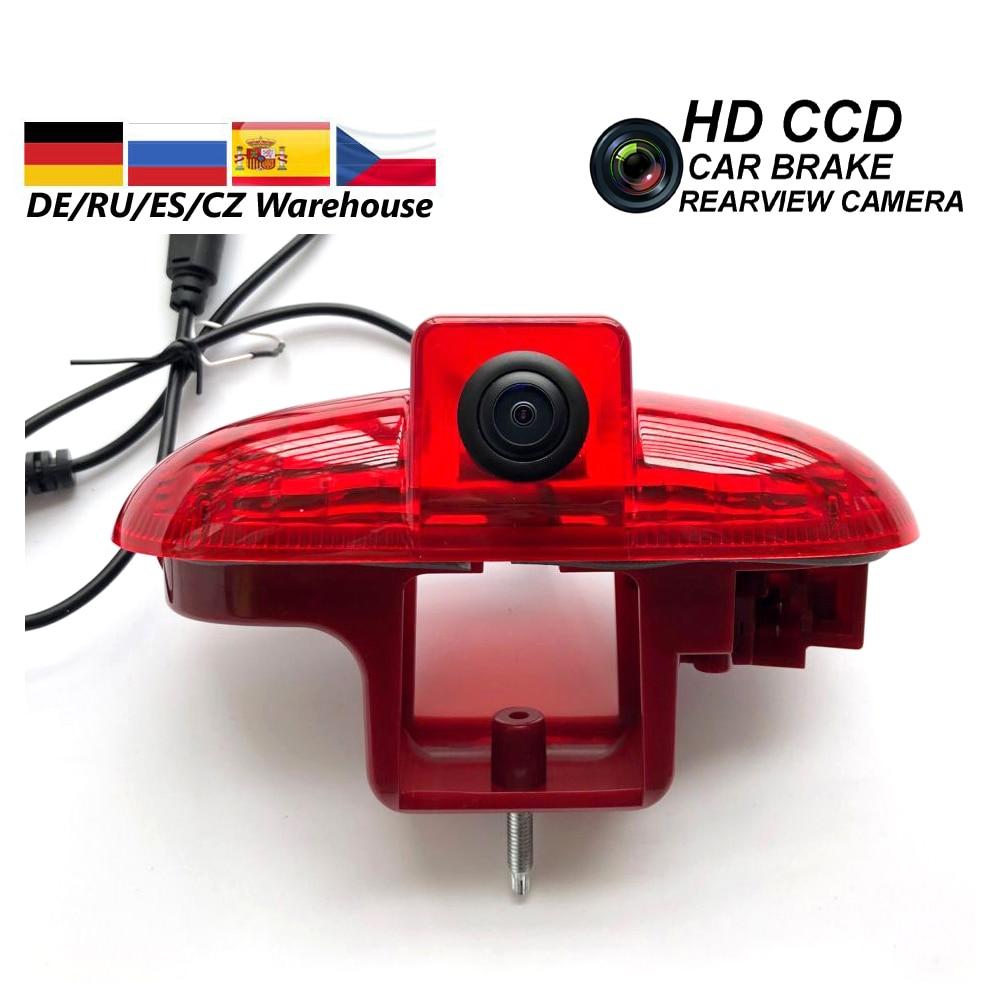 Car Rear View Reverse Camera Brake LED Light Camera For OPEL VAUXHALL VIVARO 2001-2014 TRAFIC 2001-2014 COMBO 2001-2011 Stop Lin