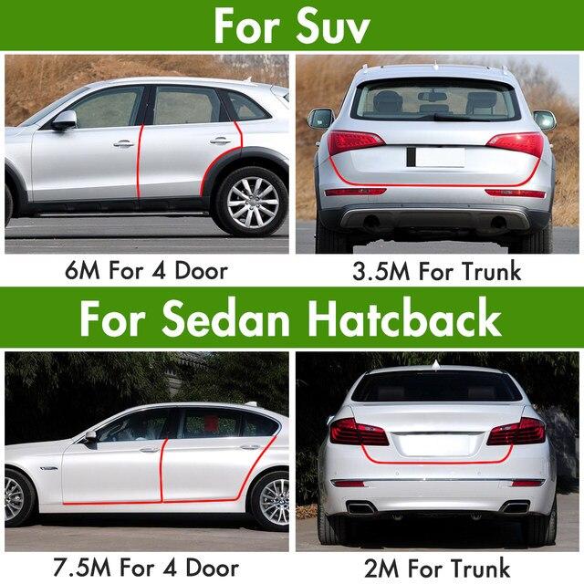 Auto Styling Tür Schutz Streifen Gummikante Türen Formteile Seite Protector  Aufkleber Kratzer Fahrzeug Für Autos Auto Auto Styling