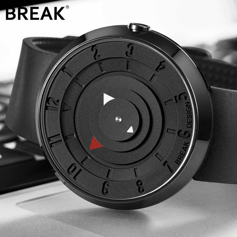 2018 New Luxury Brand BREAK Creativity Fashion Men Sport Watches Silicone Waterproof Quartz Clock Male Army Military Wrist watch замок врезной крепыш