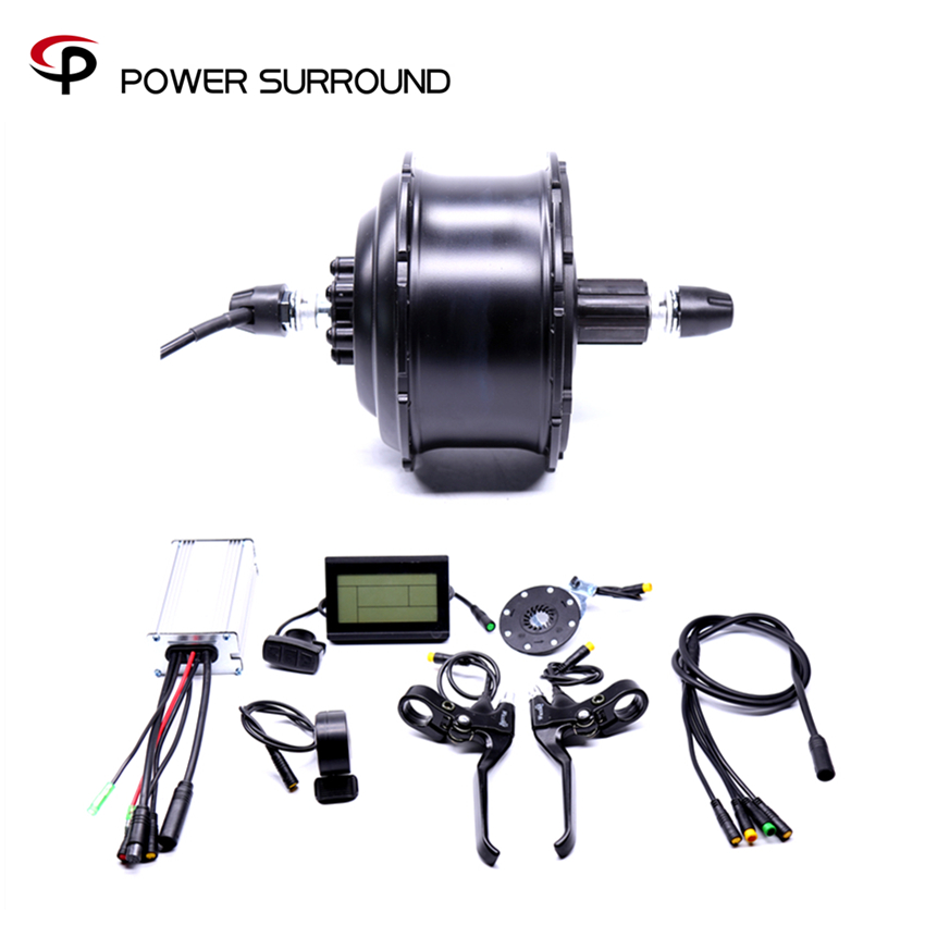 2018 Waterproof Eletrica 48v500w Fat Rear Cassette Brushless Hub Motor Snow Conversion Electric Wheel Ebike System eunorau 48v500w electric bicycle rear cassette hub motor 20 26 28 rim wheel ebike motor conversion kit
