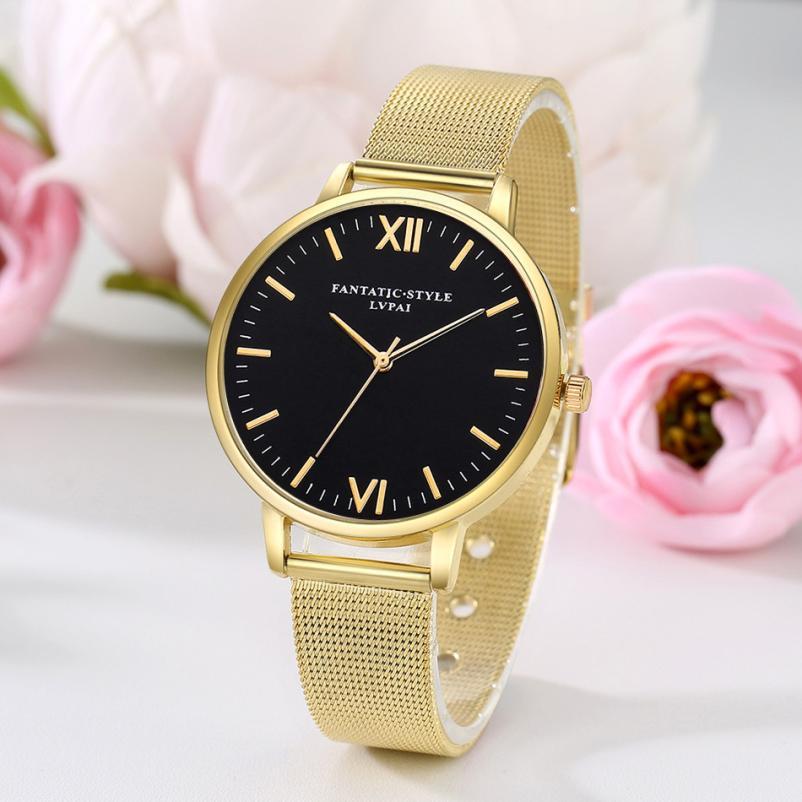 LVPAI Watches Women Stainless Steel Bracelet Analog Quartz Watch 2019 Luxury Brand Casual Wristwatches Montre femme Lady Watch
