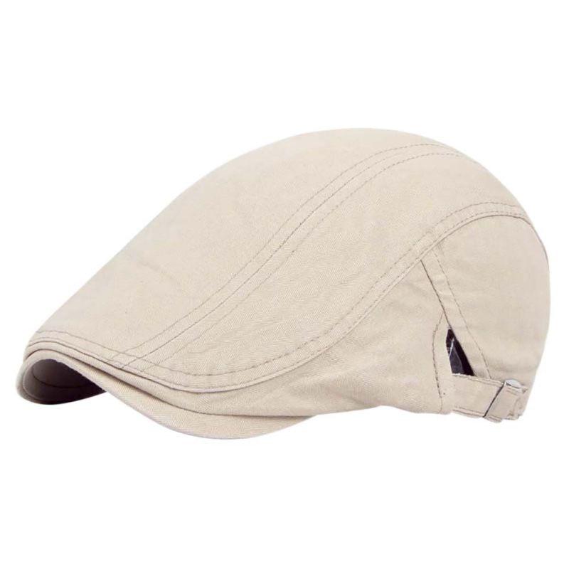 Men Solid Cotton Sports Hiking Caps Hat Golf Driving Summer Sun Flat Forward Berets Cap