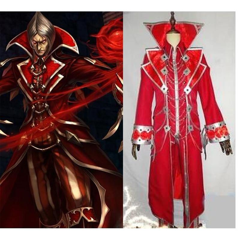 2016 LOL Vladimir Cosplay Costume The Crimson Reaper Cosplay Costume Set