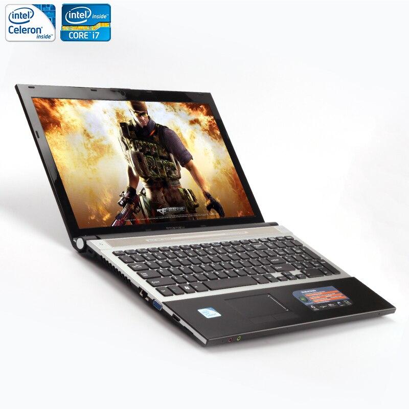 ZEUSLAP 15.6inch Intel Core i7 or Intel Celeron CPU 8GB RAM+1TB HDD Built-in WIFI Bluetooth DVD-ROM Laptop Notebook Computer ноутбук asus x553sa xx137d 15 6 intel celeron n3050 1 6ghz 2gb 500tb hdd 90nb0ac1 m05820