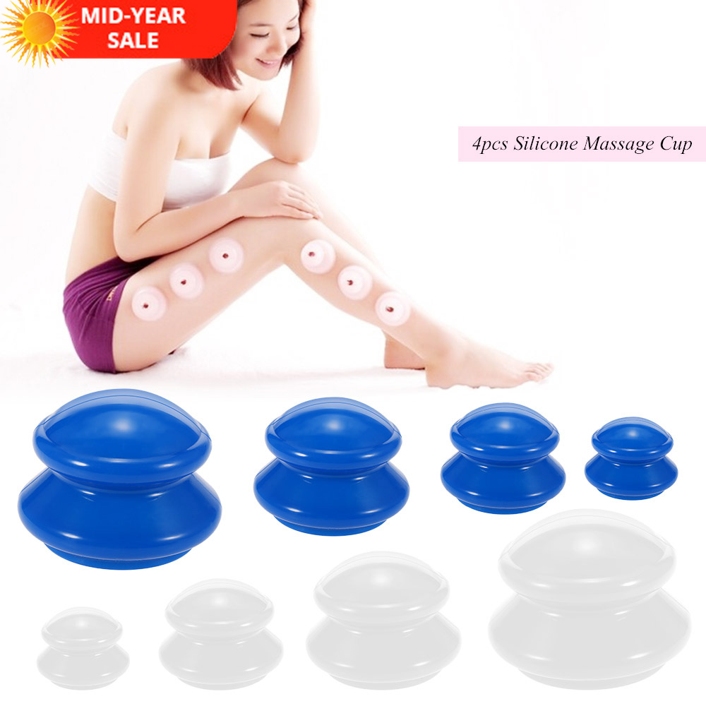 buy 4pcs moisture absorber anti cellulite vacuum cupping cup silicone family. Black Bedroom Furniture Sets. Home Design Ideas