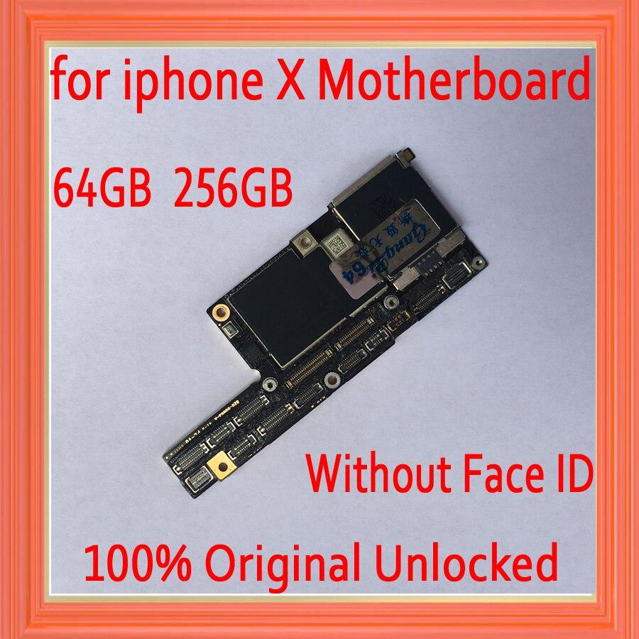 64 gb 256 gb sbloccato di Fabbrica per iphone X Scheda Madre sbloccato, originale di 100% per il iphone x Scheda Madre senza Viso ID, Trasporto iCloud