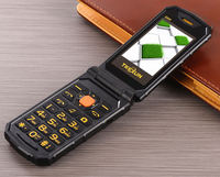 TKEXUN G800 Flip Dual SIM Card 2000mAh Long Standby FM Mobile Phone Russian Keyboard Cell Phone