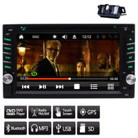 Stable Windows CE 8.0 UI System GPS NAVI Double Din Car DVD Player in Dash Car Stereo for FM/AM Radio Receiver Capacitive screen
