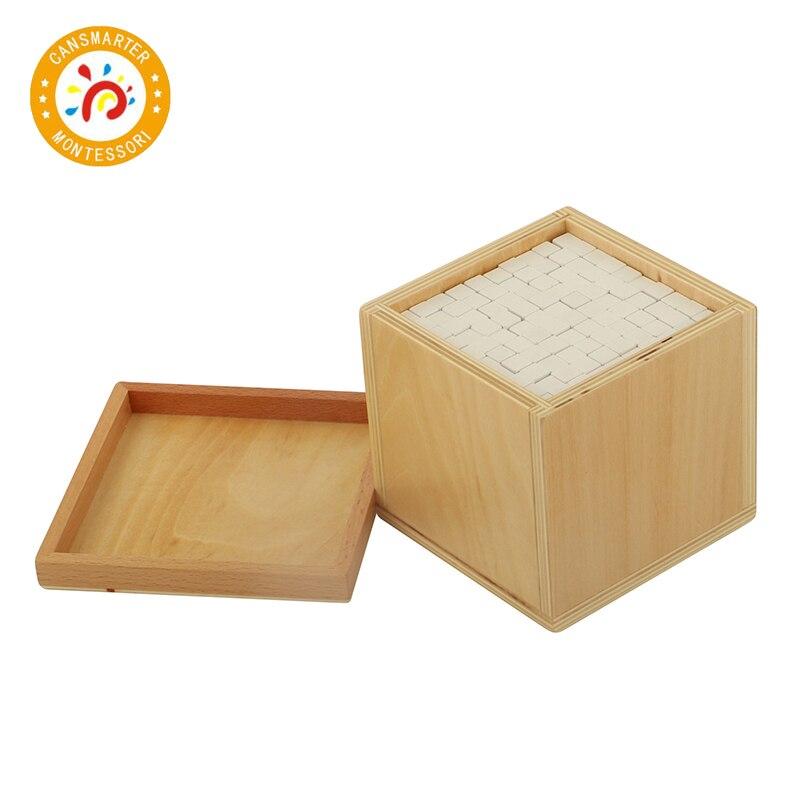 Bébé jouet Montessori Volume boîte avec 1000 Cubes éducation de la petite enfance préscolaire formation enfants jouets - 3