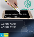 Nillkin Удивительный Н + Pro Закаленное Стекло Защитная Пленка Для Samsung Galaxy A5 A7 2017 A3 A520F A720F 0.2 мм 2.5D 0.33 мм передняя панель + Крышка