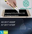 Nillkin increíble h + pro vidrio templado película protectora para samsung galaxy a5 a7 2017 a3 a520f a720f 0.2mm 2.5d 0.33mm Front + Back