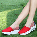 2017 Spring Summer Women Wedge Shoes Brand Ladies Casual Breathable Shoes Wedge Canvas Shoes  Walking Shoes