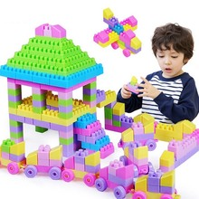 New assembled fight inserted chunks of plastic toy building blocks toys for children kids gift 130 pcs/Lot