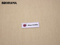 128 Multicolored Heart Shaped Name Label Decorative Label Children S Clothing Label White Organic Cotton TB026