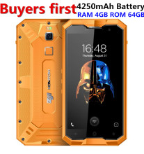 original HOMTOM ZOJI Z8 IP68 Tri-proof Smartphone 4G 5.0 Inch IPS 4GB RAM 64GB ROM MTK6750 Octa Core 16MP 4250mAh Mobile Phone