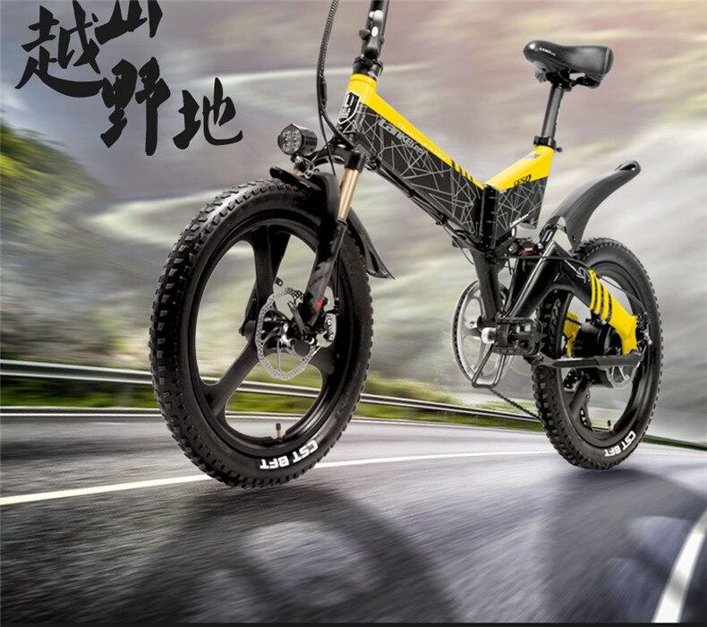 HTB1XiDlahrvK1RjSszeq6yObFXaq - 20inch folding electric mountain bicycle 48V400W high speed motor e-bike range 70-100km lightweight Hybrid  EMTB electric bike