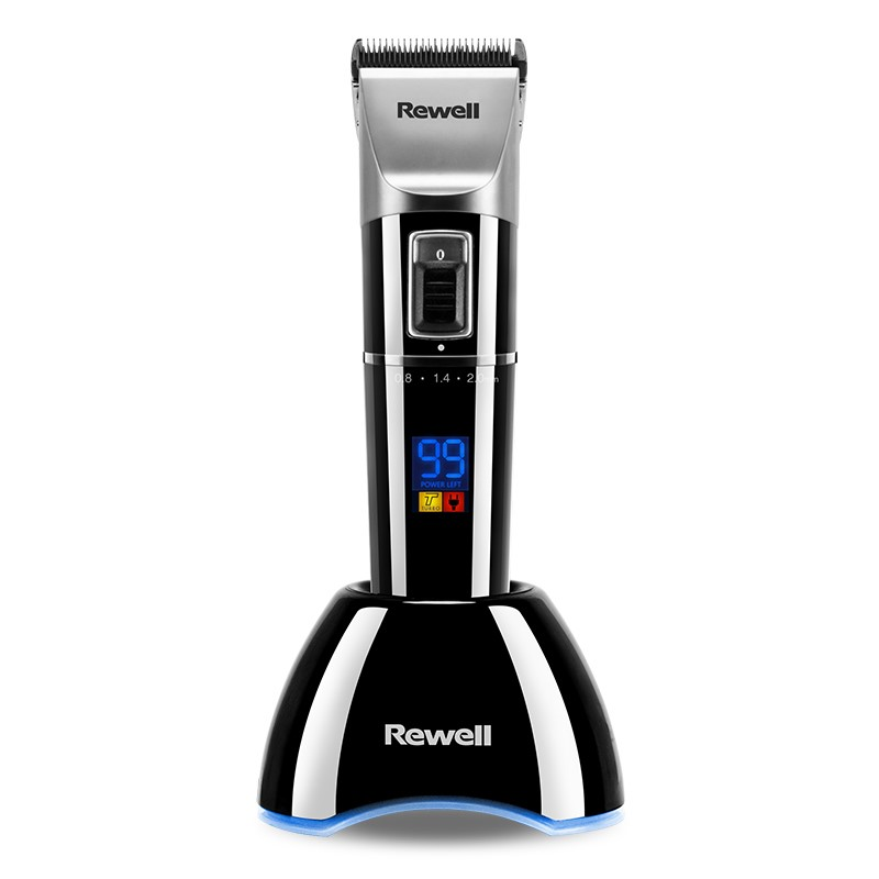 Rewell Professional Hair Clipper Rechargeable Hair Trimmer 2500mA Lithium battery Titanium alloy Blade Cutter Turbo for
