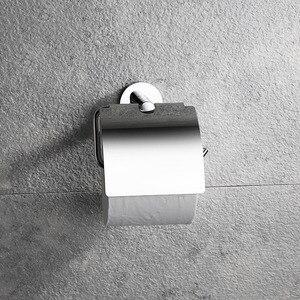 Image 3 - 304 حامل صلب لورق التواليت غير قابل للصدأ لفة ورق رف شماعات اكسسوارات الحمام نحى ومرآة الكروم مصقول 2 خيارات