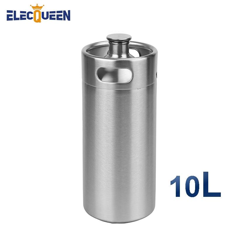 304 Stainless Steel 10L Mini Keg Beer Growler Food Grade Beer Keg Steel Best Solution For Home Brewing Keg 10l