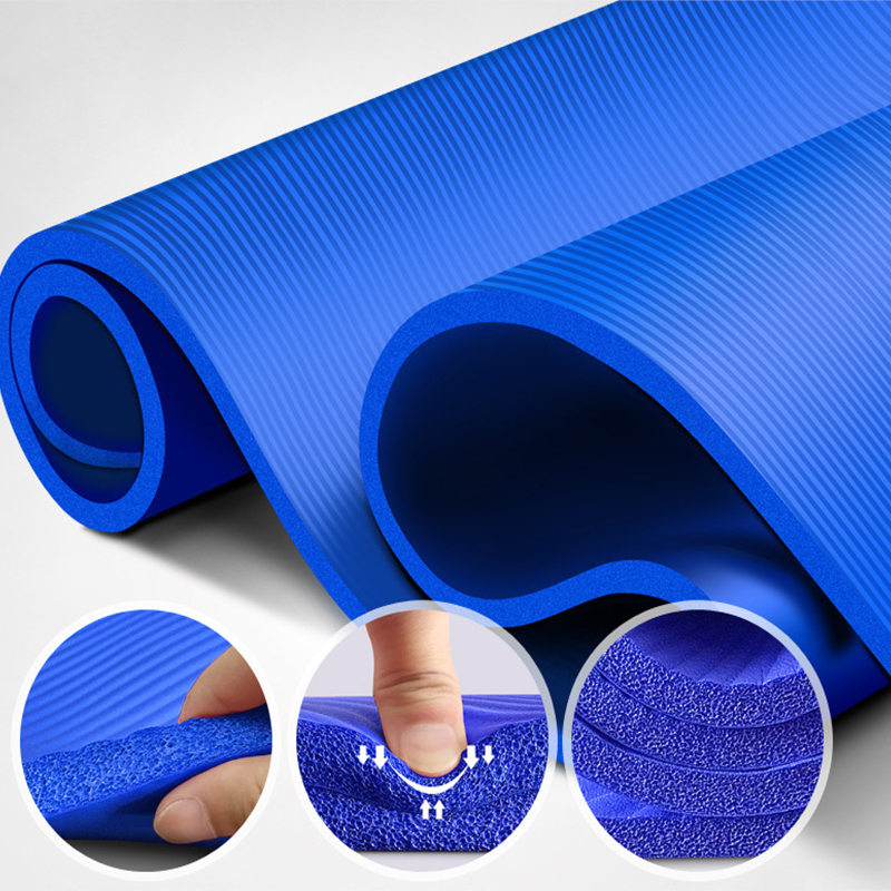 10MM Yoga Mat NBR Fitness Mat Thick Non-slip Sport Yoga Gym Mat Esterilla Pilates Tapete Yoga Mat with Strap 4