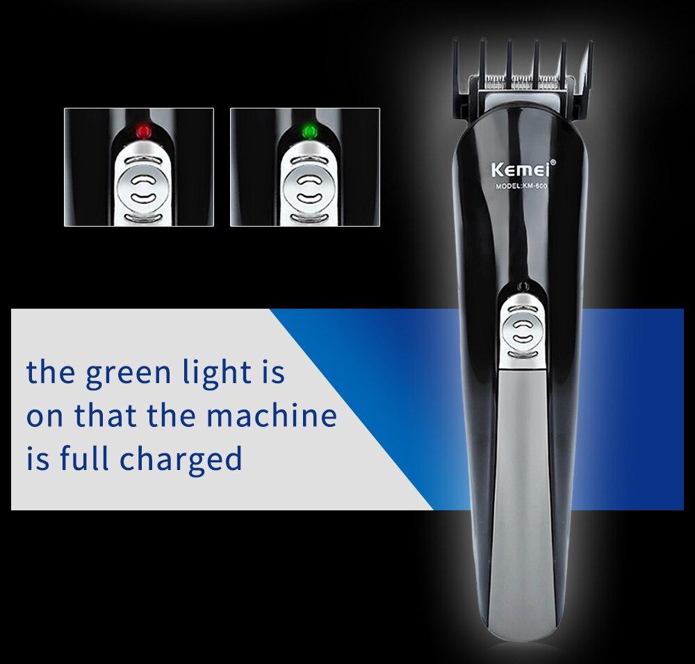 KEMEI KM-600 6 en 1 tondeuse cheveux étanche tondeuse nez tondeuse à barbe rasoir électrique pour hommes rasoir Machine à raser - 3