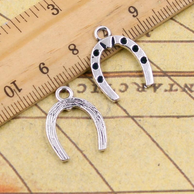 10pcs Charms lucky horseshoe horse 21*16mm Tibetan Silver Plated Pendants Antique Jewelry Making DIY Handmade Craft