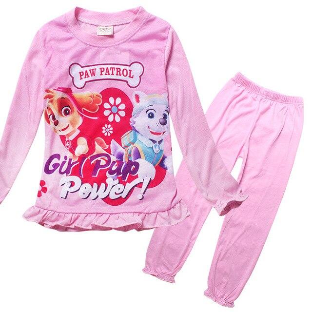 Девочек одежда устанавливает Paw ночной рубашке pijamas дети Пижамы симпатичные собаки Патруль халат дети халат roupa infantil meninas девушки пижамы