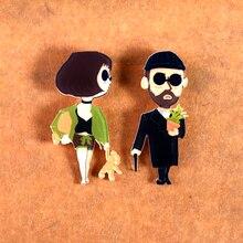 Y38 значки с героями мультфильмов Лолита Леон фильм значок акриловая брошь для одежды рюкзак модные декоративные шпильки Harajuku аксессуары 5