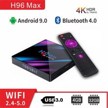 Nederlands Android tv box h96 Max RK3318 4G 64G 4G 32G tv boxing 4K 1080P support Netflix Youtube h96 android box set top box все цены