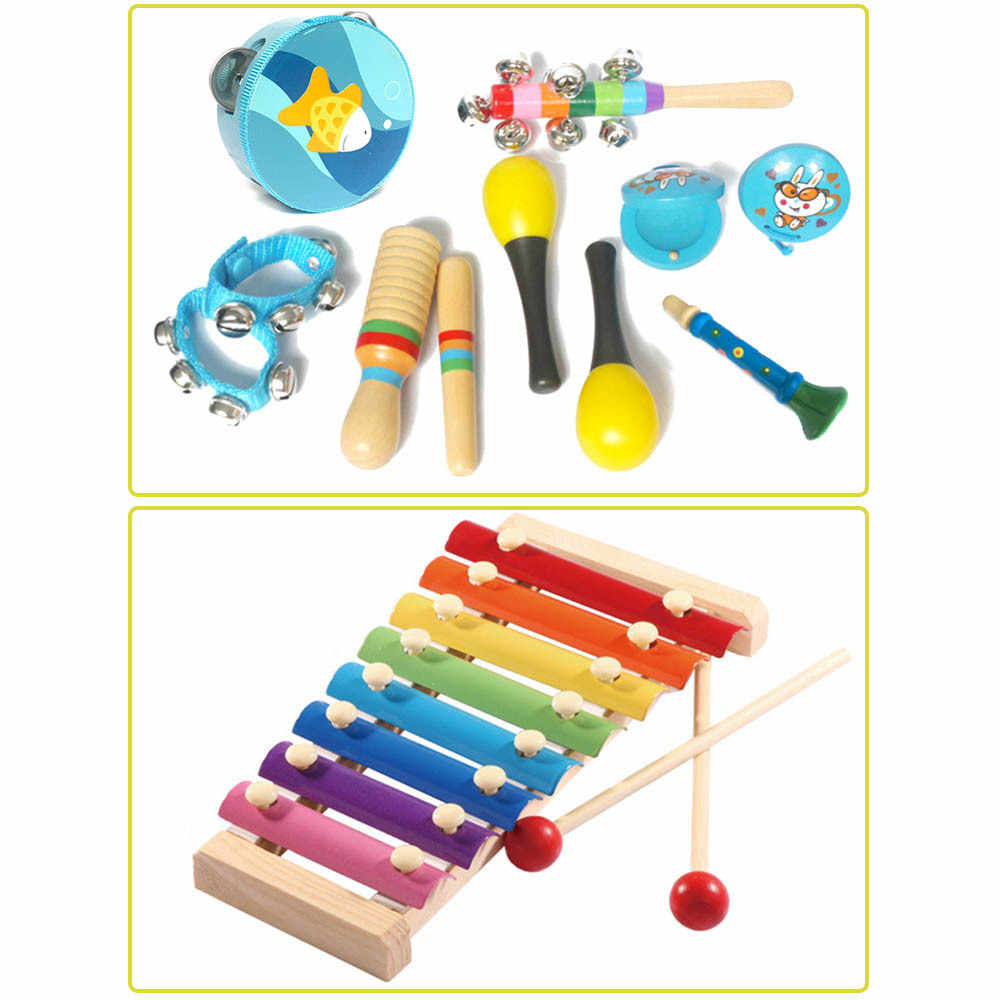 Music Instrument Toy Wooden Frame Style Xylophone Children Kids Musical Funny Toys Baby Educational Toys Gifts for Boys Girls