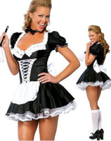 ML5034 Free Shipping High Quality Sexy Adult Woman 2PC Late Night French Maid Servant Costume French