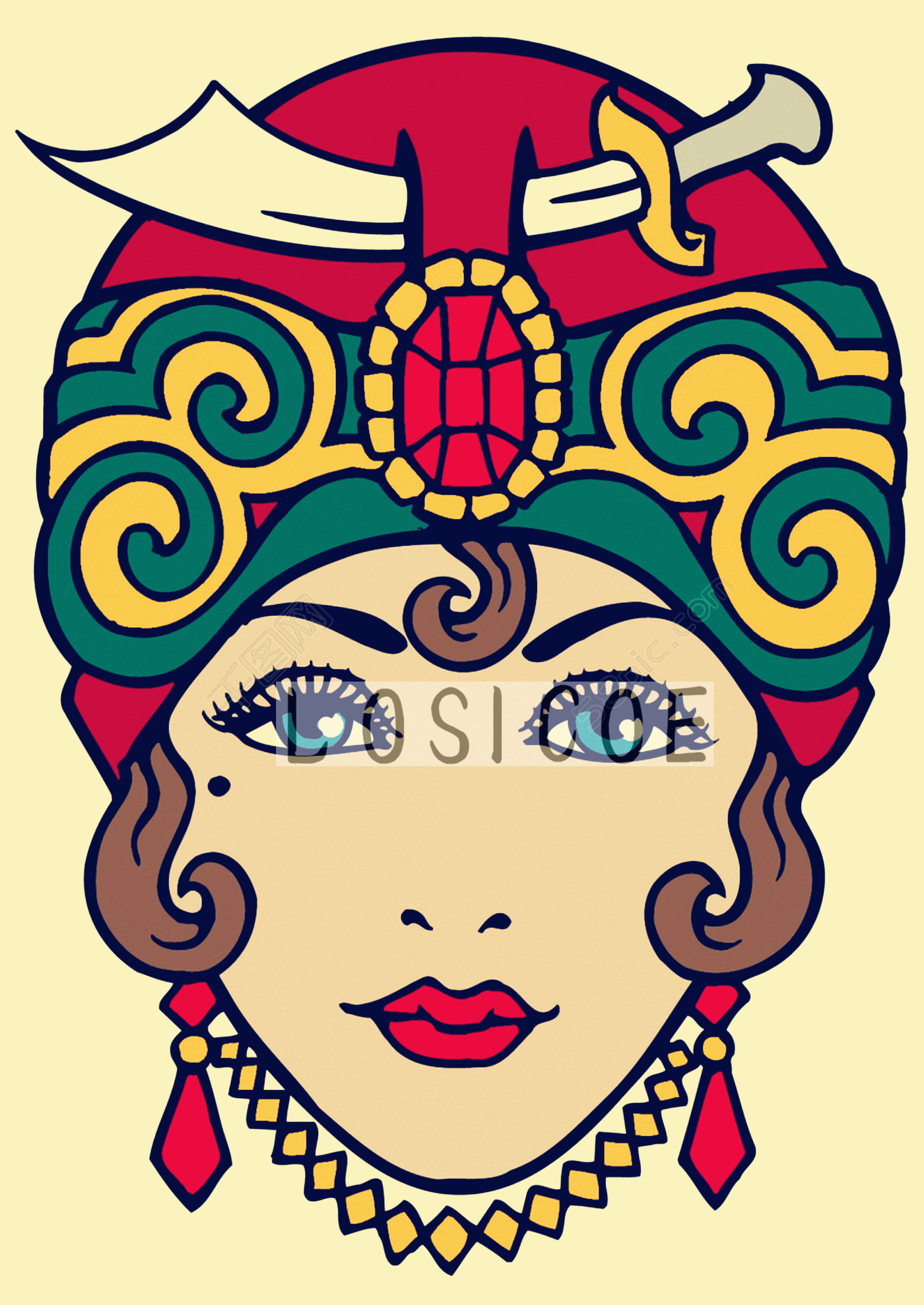 Persian Girl! Tattoos Manuscripts Retro Kraft Paper Print Art Poster ...