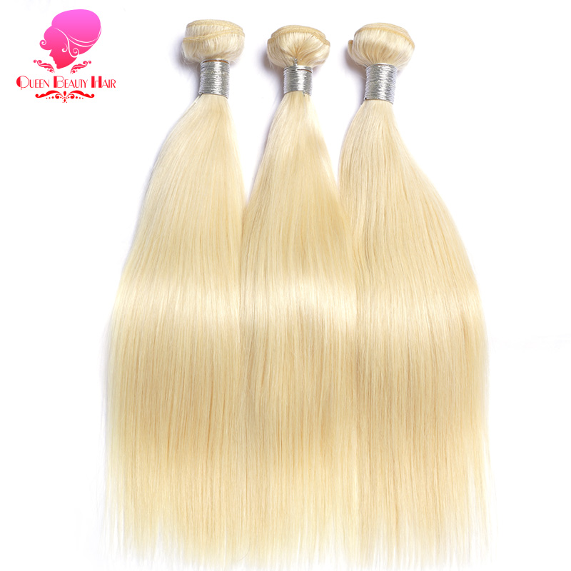 Image 2 - QUEEN BEAUTY 1/3/4 613 Blonde Hair Extensions Brazilian Hair Weave Bundles Straight Remy Human Hair 26 28 30 32 34 36 38 40 inch-in Hair Weaves from Hair Extensions & Wigs