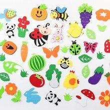 46 стилей войлочные патчи фрукты/цветы/баллон/Животные Аппликации Швейные принадлежности войлочные ремесла Декор стены DIY аксессуары