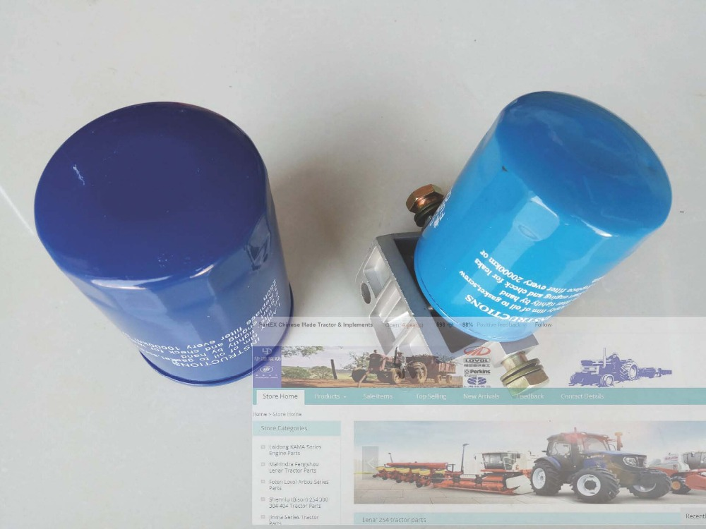 Mahindra Fengshou MFS354 tractor, the set of fuel filter assembly and oil filter element , Part number: jiangdong engine parts for tractor the set of fuel pump repair kit for engine jd495