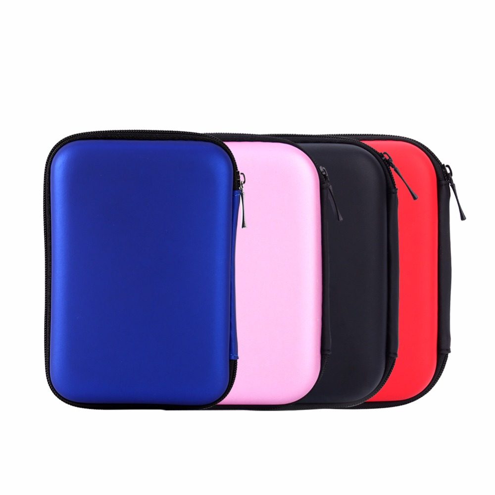 Hand Carry Case Cover Pouch For Power Bank USB External  HDD Hard Disk Drive Protect Bag Enclosure Case
