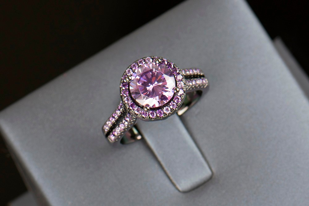 R&J 2016 Women Fashion Purple Crystal Ring 5A Zircon Jewelry 10KT - Fashion Jewelry - Photo 3
