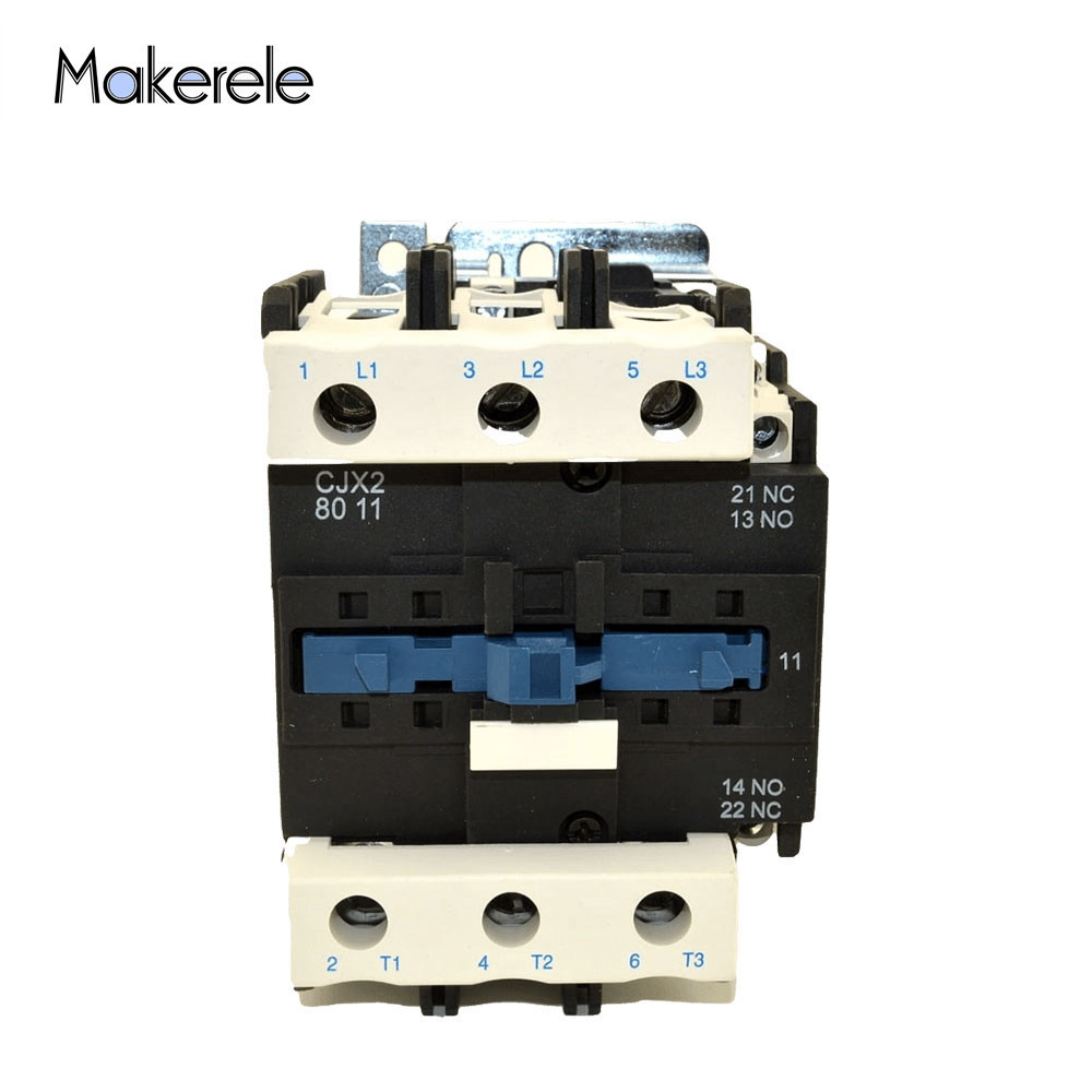 LC1 3 Phase 3-Pole Coil Voltage 380V 220V 110V 36V 24V 3P+1NO+1NC AC Contactor CJX2-8011 80A Use With Float Switch 80A 50/60Hz LC1 3 Phase 3-Pole Coil Voltage 380V 220V 110V 36V 24V 3P+1NO+1NC AC Contactor CJX2-8011 80A Use With Float Switch 80A 50/60Hz