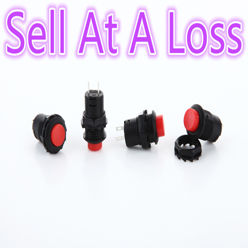 5pcs/lot L46 12.5mm Plastic Push Button Switch For Car Modification Light Automatic Lock ...