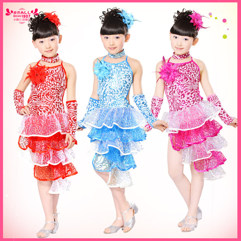 1e65103a79 Latin Fringe Dance Dress For Kids Girls Children Competition Performance  Wear Gymnastics Latin Dance Costumes For Women L089-in Latin From Novelty  U0026 ...