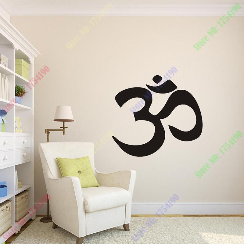 Om - Wall Vinyl Decal Sticker Family Kids Room Mural Decor Motivation Love  Hope Flower Peace Hindu Yoga Home Decoration 9d7fab85fe2a