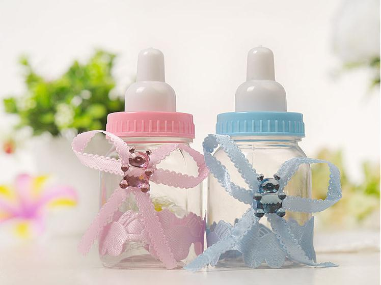 Baby Shower Baptism Favours Candy Bottle Storage Box Gift Baby Feeding Bottle Candy Boxes Organizer Wedding Party SN1816