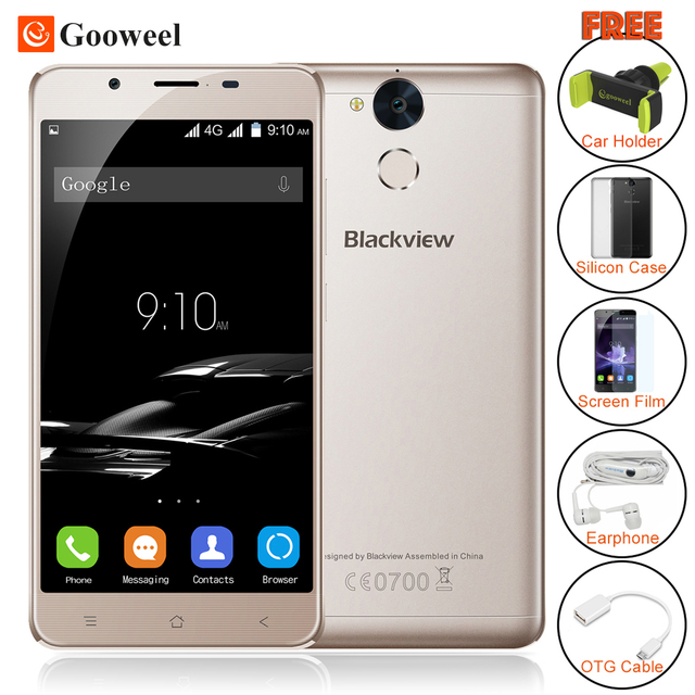 Blackview P2 Cell phone 4GB RAM 64GB ROM Android 6.0 smartphone MT6750T Octa Core 5.5 inch FHD 6000mAh Mobile Phone 13MP camera