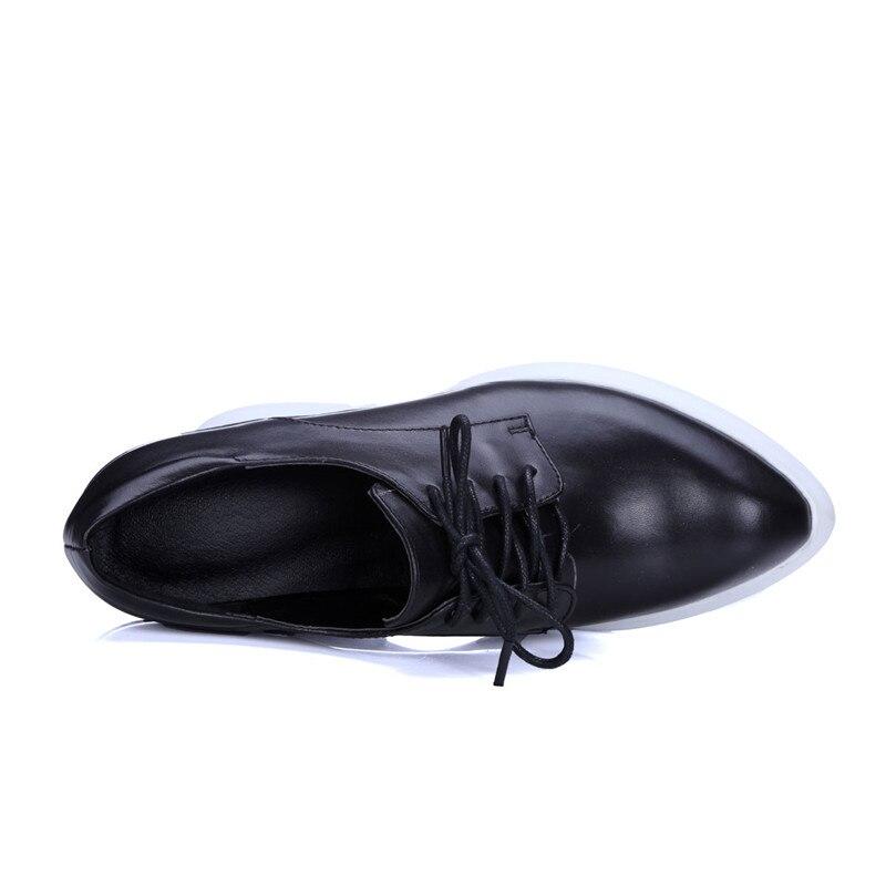 Rojo up Red Estudiante Diseño black Zapatos grey Shallow Lace Cm Casual Planos Oculta Altura Stylesowner Femenino Nuevo 7 Color Mujer FgqA4