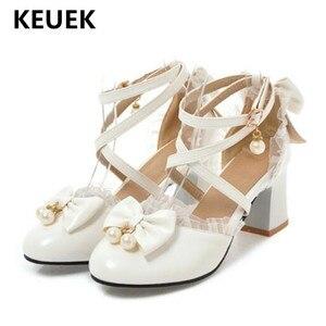 Nuevos zapatos de cuero para niños, zapatos de vestir de tacón alto, mocasines de fiesta para actuación de princesa para niñas, zapatos de estudiante para bebé 019