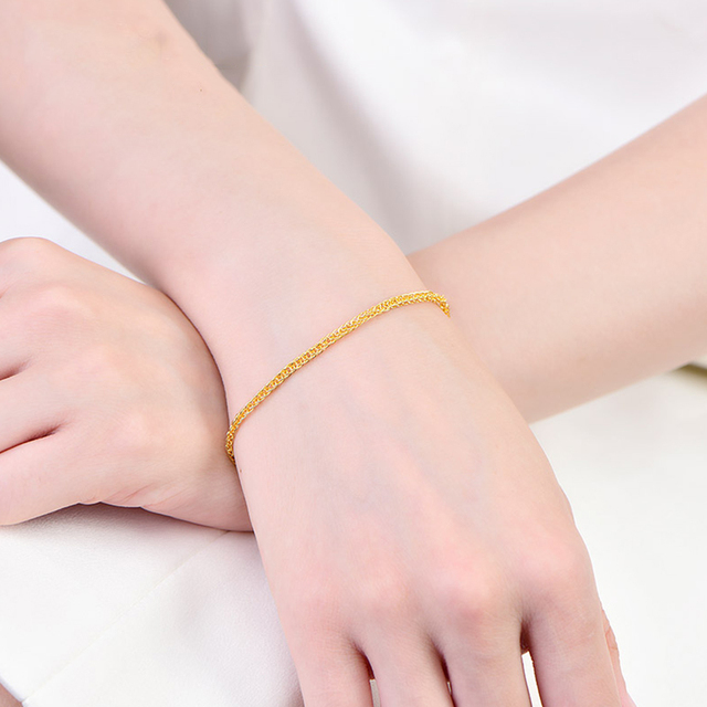 XX24K Pure Gold Bracelet Real 999 Solid Gold Bangle Shiny Charming Beautiful Trendy Classic Party Fine Jewelry Hot Sell New 2020 5